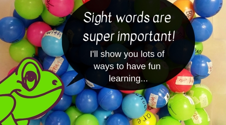 title Sight words are super important!