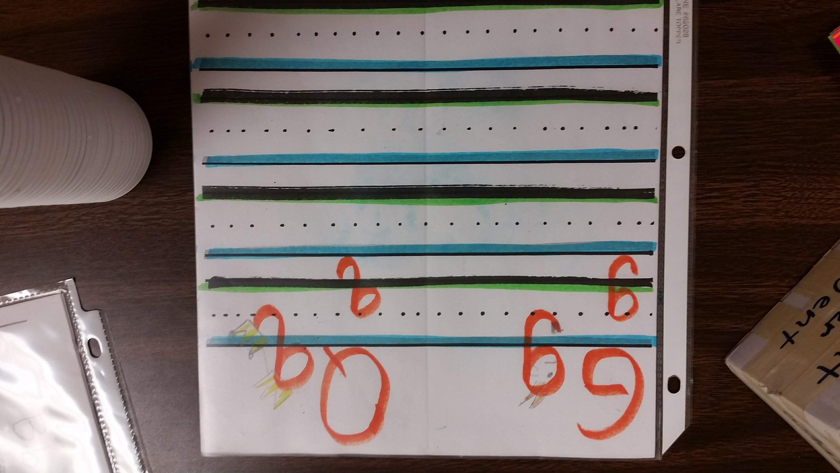 "orientation letter ""g"" and ""q""  reduce confusion for beginning readers"