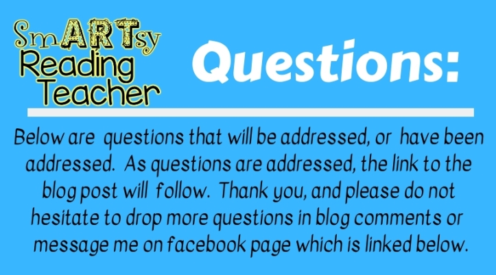 Questions_ below are questions that will be addressed, or have been addressed. As questions are addressed, the link to the blog post will follow. Thank you, and please do not hesitate to drop more questions in t